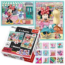 Trefl 2 in 1 30 + 48 & Memo Disney Minnie Mouse Salon Daisy Duck Puzzle