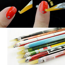 1Pc Fancy Resin Rhinestones Gems Nail Art Picking Tools Pick Up Pencil Pen Tool