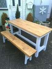 Gorgeous Solid Wood Kitchen Table with Bench