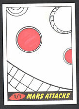 MARS ATTACKS! HERITAGE (Topps/2012) Pack Pulled SKETCH CARD by WILSON RAMOS JR