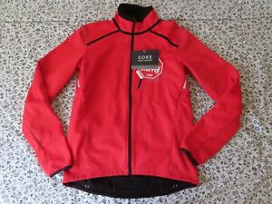 Gore Bike Wear Women's Red Soft Shell Windstopper Jacket Size Medium