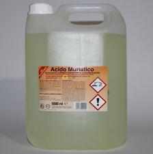 5 LT ACIDO CLORIDRICO MURIATICO PURO 30-33% SGRASSANTE DISINCROSTANTE X PULIZIA