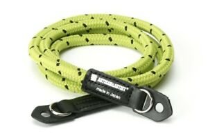 Artisan & Artist Pin Dot Cord Camera Strap. Extra Long Yellow Rope ACAM 706 YGBK