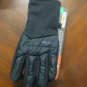 HEAD Men's Hybrid Touchscreen Running Gloves Size XLarge + SENSATEC ~ Black ~