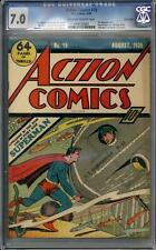 Action Comics #15 CGC 7.0 (OW-W) Billy Wright Pedigree 5th Superman Cover
