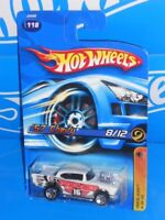 Hot Wheels 2006 Track Aces Series #118 '57 Chevy White w/ 5SPs