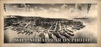 """1908 San Francisco from Air Ship over San Fran Bay Vintage Panoramic Photo 15"""""""