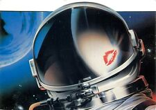 Astronaut kiss lips stick design by Brian Lepard postcard