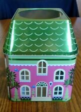 TIN SPRING VILLAGE CANDLE HOLDER JAR OR VOTIVE WITH CUP PARTYLITE HOME DECOR NIB