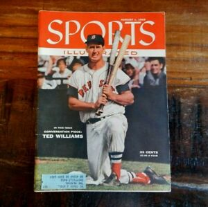 1955 TED WILLIAMS BOSTON RED SOX SPORTS ILLUSTRATED MAGAZINE AWESOME COVER NICE