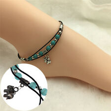 Women Turquoise Beads Anklet Ankle Chain Foot Bracelet Jewelry for Summer Beach