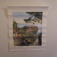 N2081 Poster JB THIBAULT MONACO Le jardin exotique et le Rocher Rivage PN France