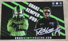 2015 Drake Kemper signed Royal Rugby Boot Co. IMSA Mazda MX-5 Cup postcard