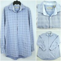 Burberry London Blue Nova Check Long Sleeve Shirt 16 1/2 - 42 CLASSIC