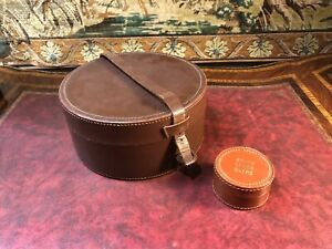 Vintage Leather Cuff Link And Collar Box