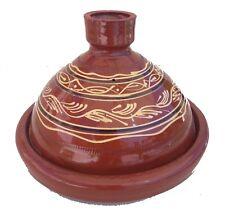 Plat a tajine tagine Marocain a4 cuisson terre cuite émaillé 30cm 5/6 personnes