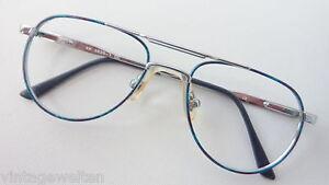Kinderbrille für Jungen mit Federscharnier silber-blau-grün preiswert neu Gr. K