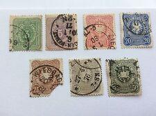 1875 Aquila Impero Tedesco Ricco e Mark 3 5 10 20 25 50 50 Pfennig FRANCOBOLLI