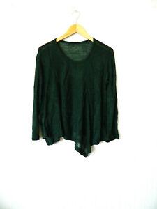 Y's Yohji Yamamoto très joli fin pull-tunique tricot délicat à grands motifs