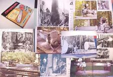CHAIN SAW:HISTORY:engine steam diesel electric WWII husqvarna german,ads,logging