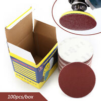 100PCS 6 Inch DA Hook and Loop Sandpaper Sanding Discs Sand Sheet 40-2000 GritU