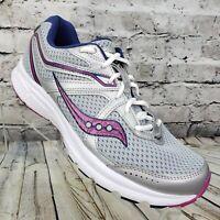 Saucony Grid Cohesion 11 Women's Running Shoes Size 9 Gray Purple S10420-10 EUC