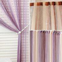 Colorful Tassel String Window Curtain Door Room Divider Scarf Valance Decoration