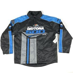 Nascar Daytona 500 2016 Fanatics Black Quilt Lined Mens Large Pit Crew Jacket