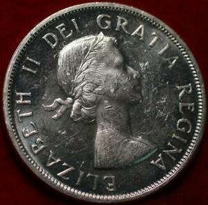 Uncirculated 1963 Canada Silver One Dollar Foreign Coin