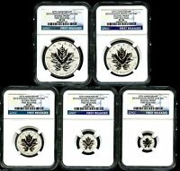2013 CANADA SILVER MAPLE LEAF NGC PF70 REVERSE PROOF 25TH ANNIVERSARY SET - FR