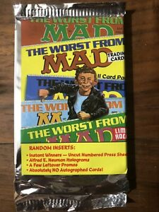 MAD MAGAZINE SERIES 1 TRADING CARDS from Lime Rock 1992 -New Sealed Pack