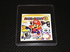 Nintendo 64 Mario Party 3 N64 Cartridge Replacement Game Label Sticker Precut