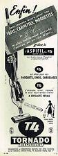 F- Publicité Advertising 1958 Aspirateur Tornado T4