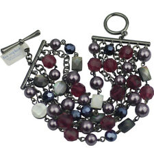 NWT lia sophia jewelry huge bracelet shell red beads vintage free shipping