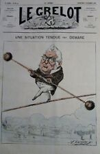 CARICATURE POLITIQUE THIERS FUNAMBULE JOURNAL SATIRIQUE LE GRELOT N° 87 de 1872