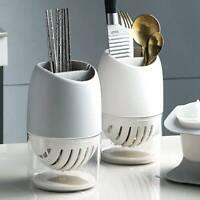 2 Tier Drainer Cutlery Spoon Fork Chopsticks Holder Sink Rack Drip Tray