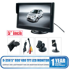 5 Inch HD Screen Monitor For Car Rearview Reverse Backup Parking Camera Cam RCA