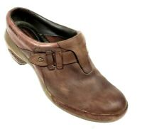 Merrell Womens Sz 10.5 Clogs Loafers Slip on Distressed Brown Leather Shoes  #Y3