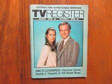 1983 Santa Ana TV Register(DANIEL J. TRAVANTI/VERONICA HAMEL/HILL  STREET  BLUES