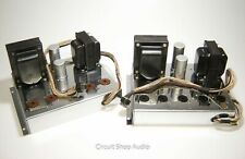 Pair of Vintage Chrome Tube Amplifiers from Scott 510 / Uses 6L6 Tubes