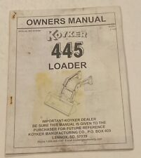 Koyker 445 Loader Owners Manual Manual 674094