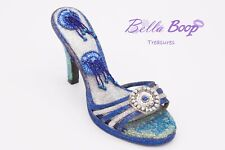 Blue and Silver Muses Shoe