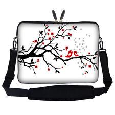 """14"""" Laptop Computer Sleeve Case Bag w Hidden Handle & Shoulder Strap 2619"""