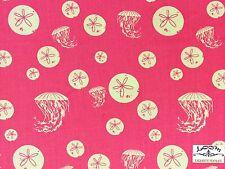 RPCHB50h Charley Harper Maritime Jellyfish Sand Dollar Organic Cotton Fabric