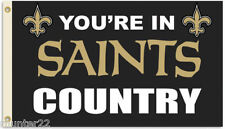 New Orleans Saints Huge 3' x 5' Nfl Licensed Country Flag - Free Shipping