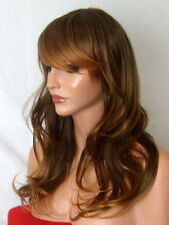 Light Brown Ombre Fashion long curly real natural full ladies hair wig P3