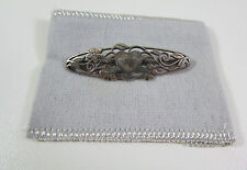 "Retired Designer James Avery Sterling Silver Heart Flower Floral 2"" Pin Brooch"