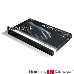 Reusable latex gloves Herculess Sägemann Black Touch 10 pcs (S,M,L)