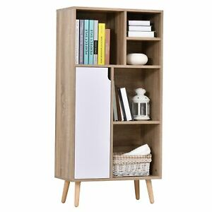 Particle Board Elevated 6-Compartment Storage Unit White