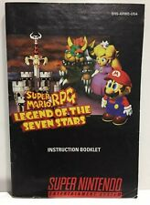 Super Mario RPG Seven Stars Instruction Booklet Manual Only Nintendo SNES NTSC